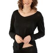 Damella Silk Long Sleeve Svart silke Small Dame