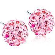 Blomdahl Natural Titanium Crystal Ball Light Rose 6mm