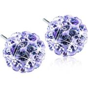 Blomdahl Natural Titanium Crystal Ball Violet 6mm