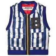 The BRAND B Vest Blue/White Stripe 80/86 cm