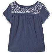 GAP Embroidery Short Sleeve Top Sargasus Blue XS (4-5 år)