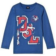 Diesel Blue DSL Logo Long Sleeve Tee 4 years