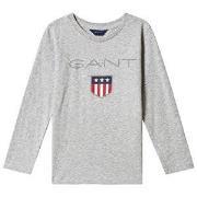 GANT Shield Logo Tee Light Grey Melange 98-104cm (3-4 years)