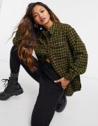 Vero Moda shirt in green houndstooth-Multi