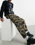 Versace Jeans Couture baroque print track joggers in black